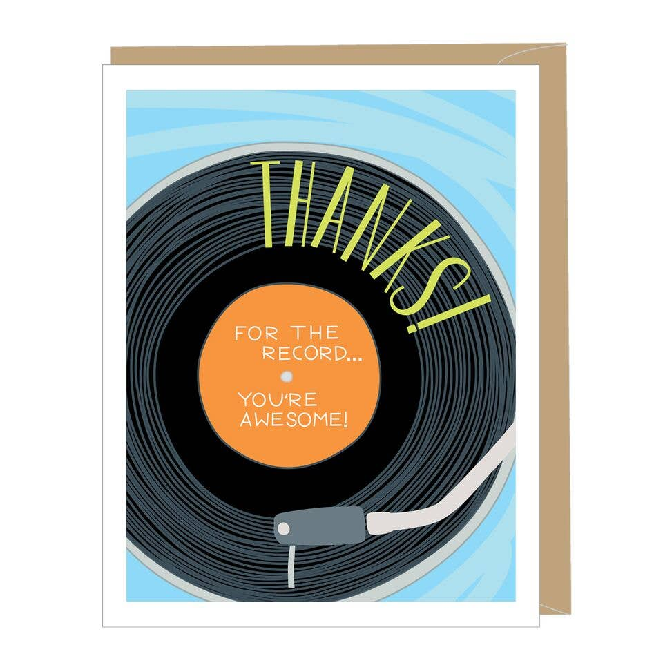 Vinyl Record Thank You Card