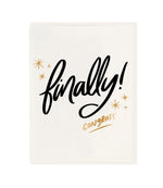 Finally Congrats Wedding Card