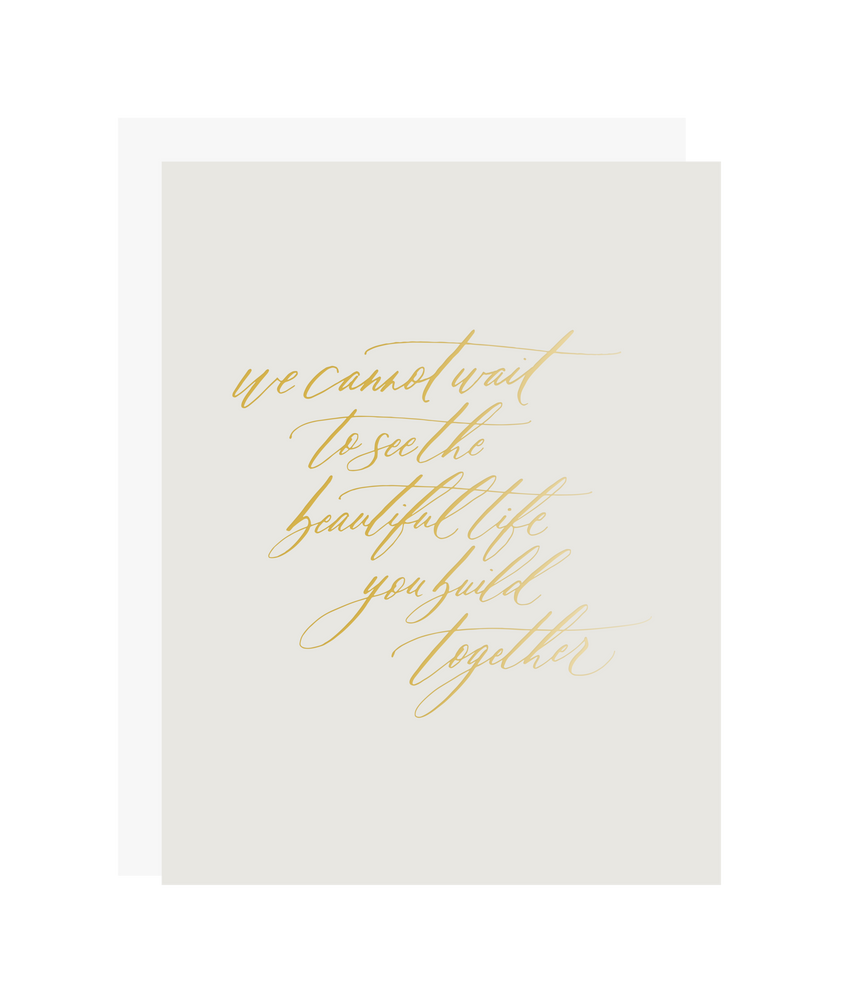 Beautiful Life Together Wedding Card