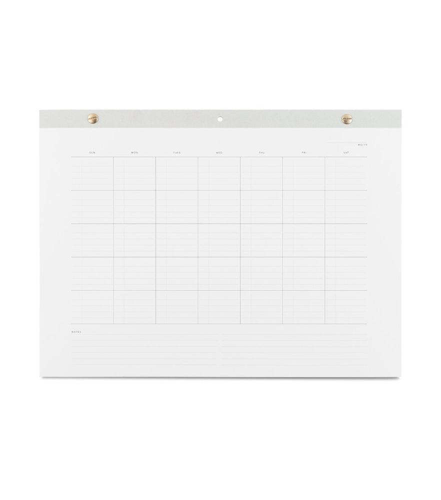 Undated Wall Task Calendar