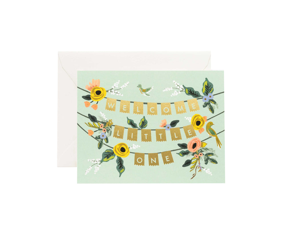 Welcome Baby Garland Card
