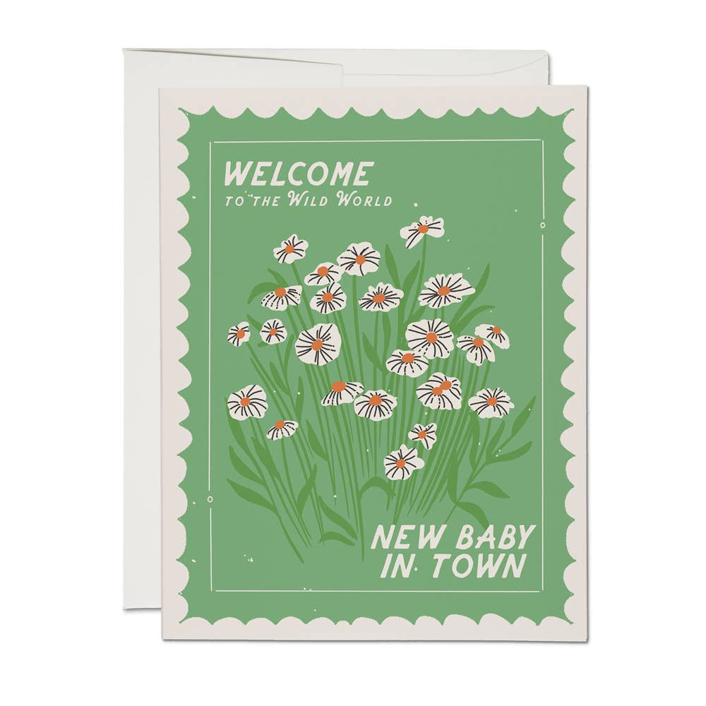 Wild World Welcome Baby Card