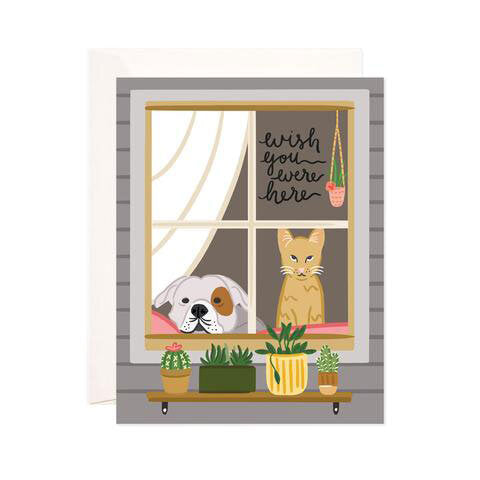Wish You Were Here Pets Card - M.Lovewell