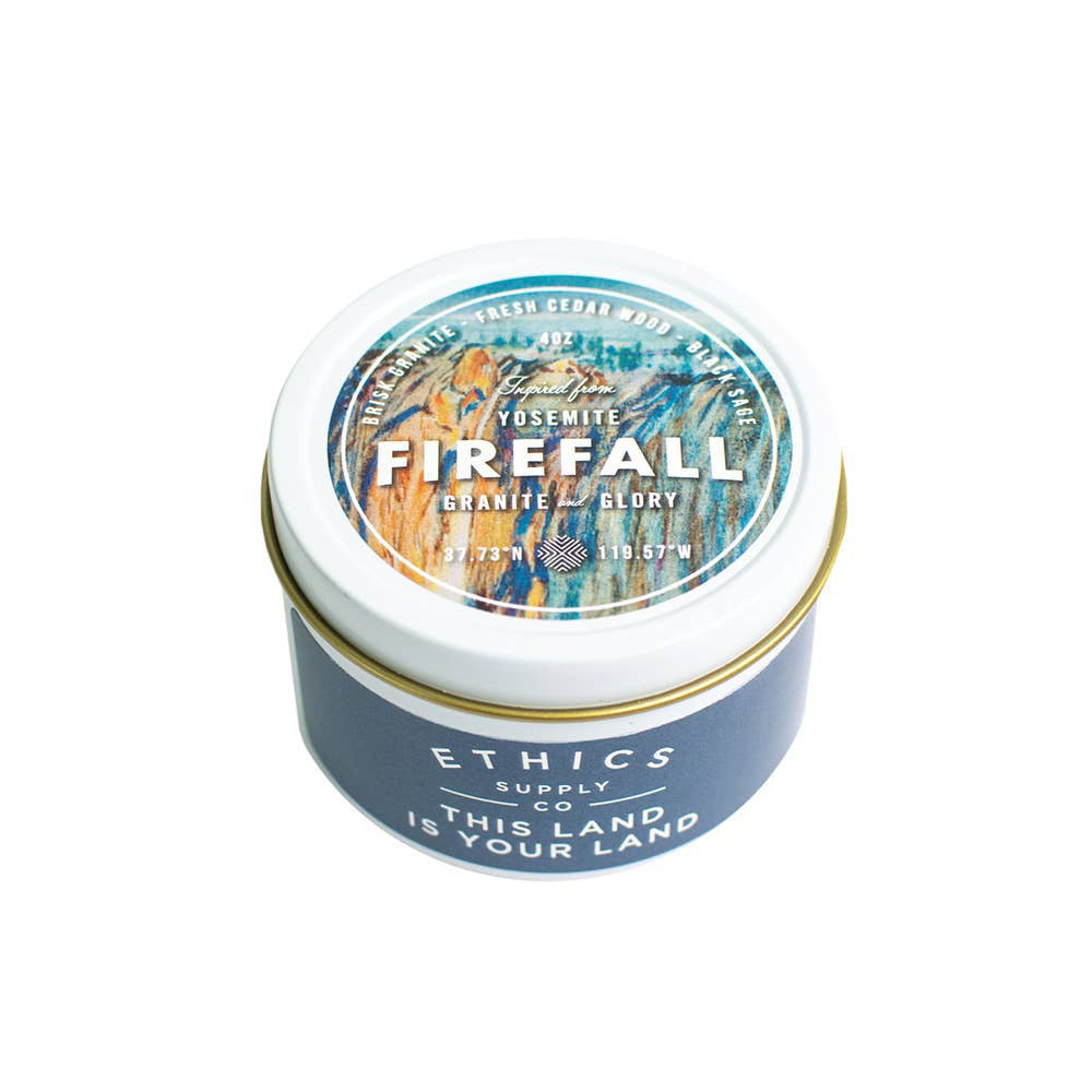 Yosemite National Park Firefall Travel Candle
