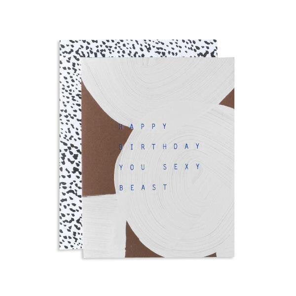 Sexy Beast Birthday Card - M.Lovewell