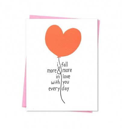 More and More In Love Card - M.Lovewell
