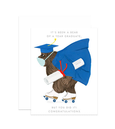 Bear of a Year Graduation Card