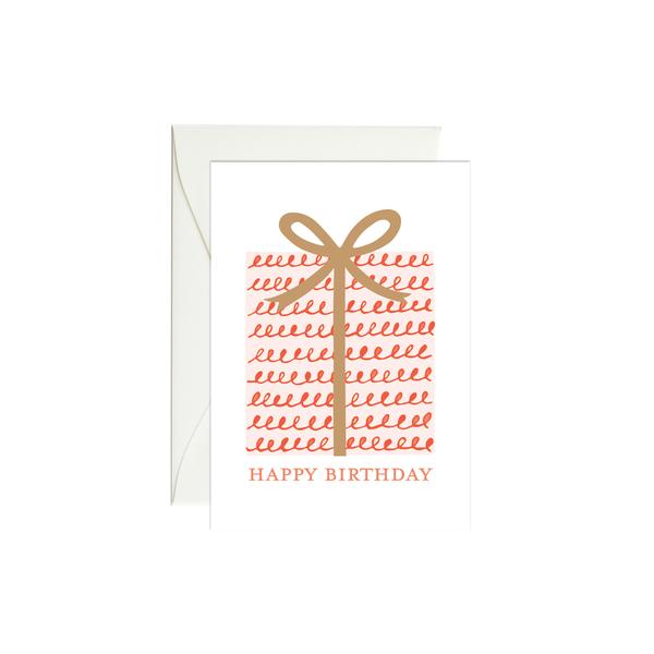 Gift Happy Birthday Mini Card - M.Lovewell
