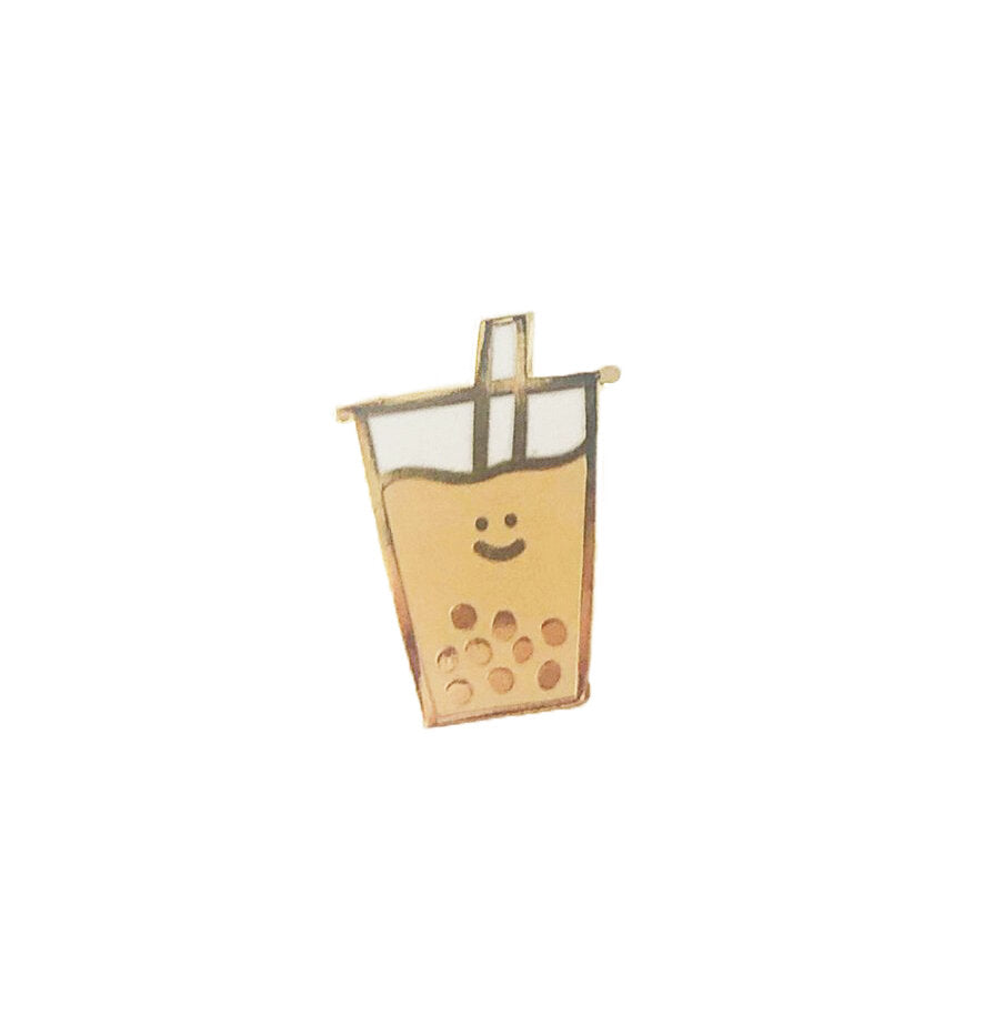 Happy Boba Enamel Pin