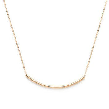 Curved Gold Tube Necklace