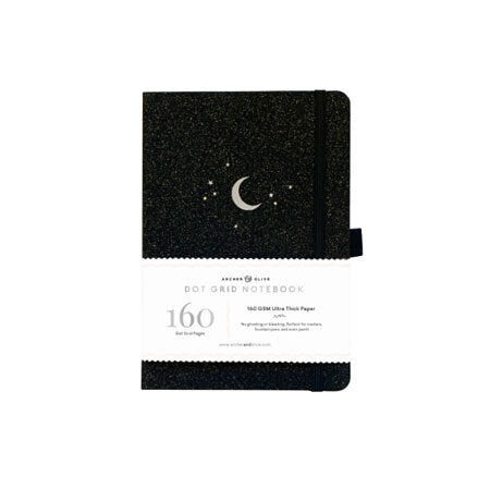 Archer & Olive Dot Grid Notebook - Forest Night