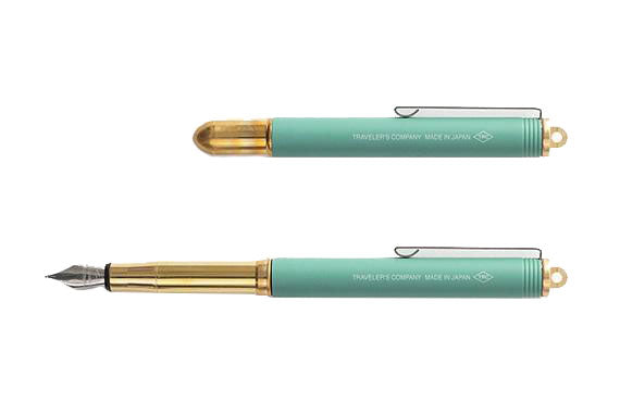 TRC Limited Edition Brass Fountain Pen Factory Green