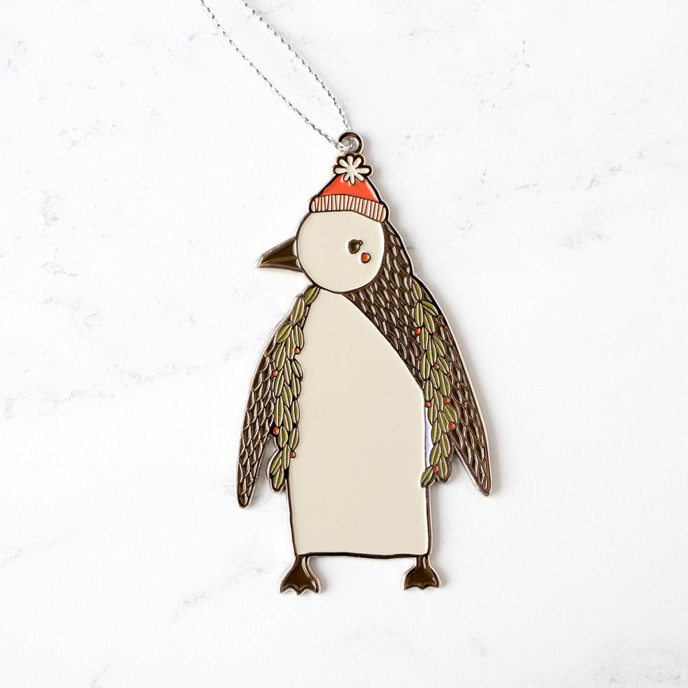 Enamel Merrily Penguin Ornament