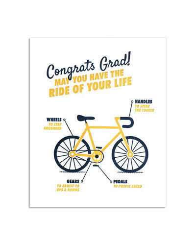 Graduation Bicycle Card - M.Lovewell