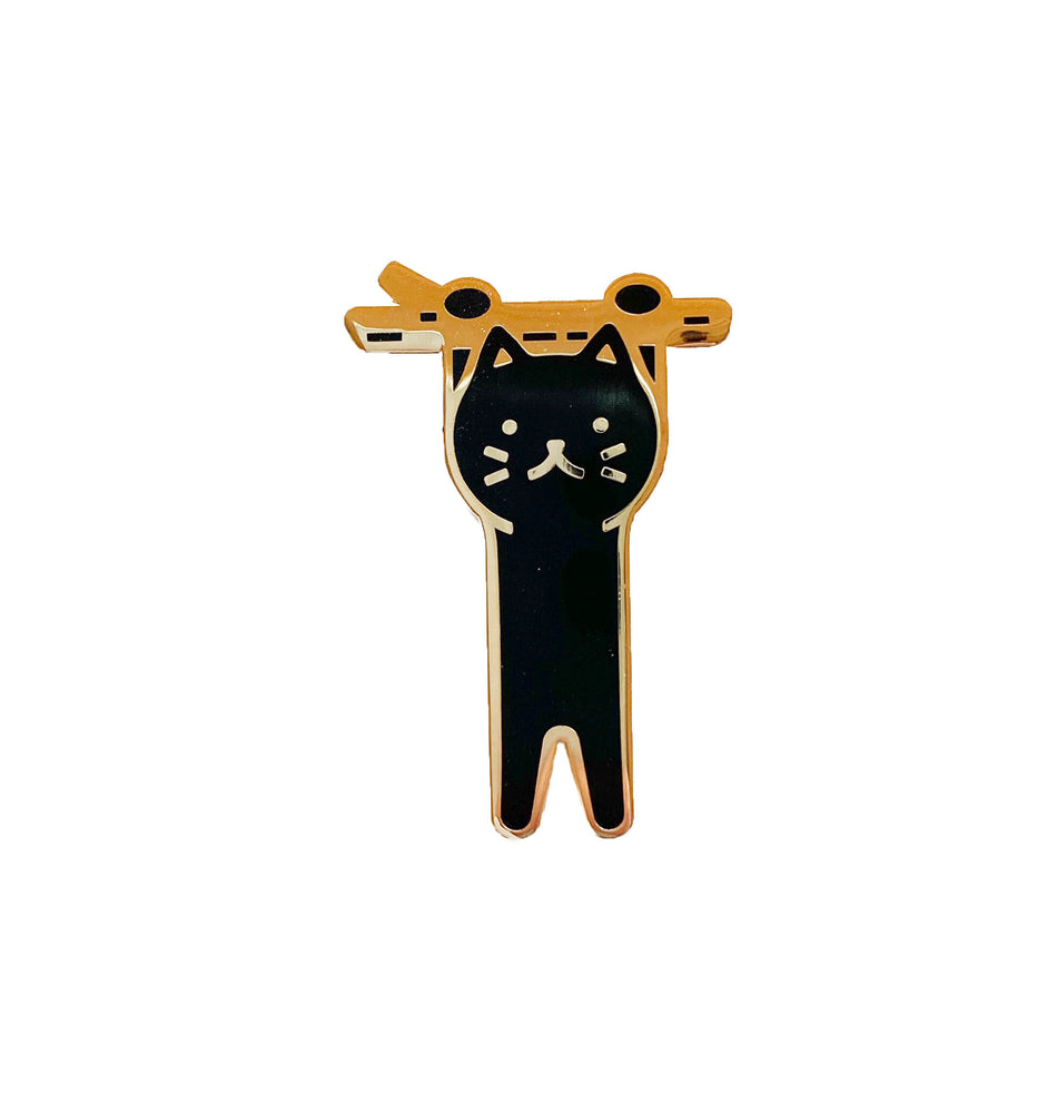 Hanging Cat Enamel Pin
