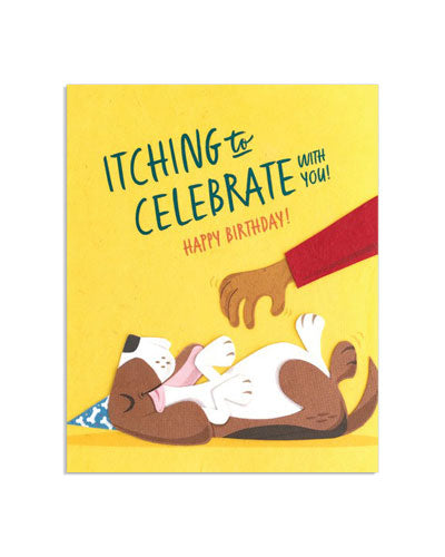 Itching To Celebrate Birthday Card