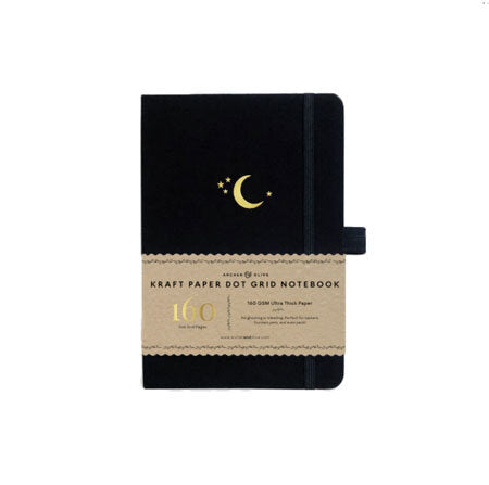 Archer & Olive Kraft Dot Grid Notebook - Crescent Moon