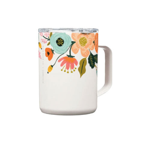 Lively Floral Cream 16oz Mug