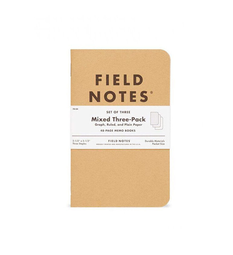 Mixed Three Pack Notebook