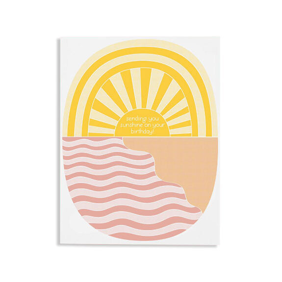 Sending Sunshine Birthday Card