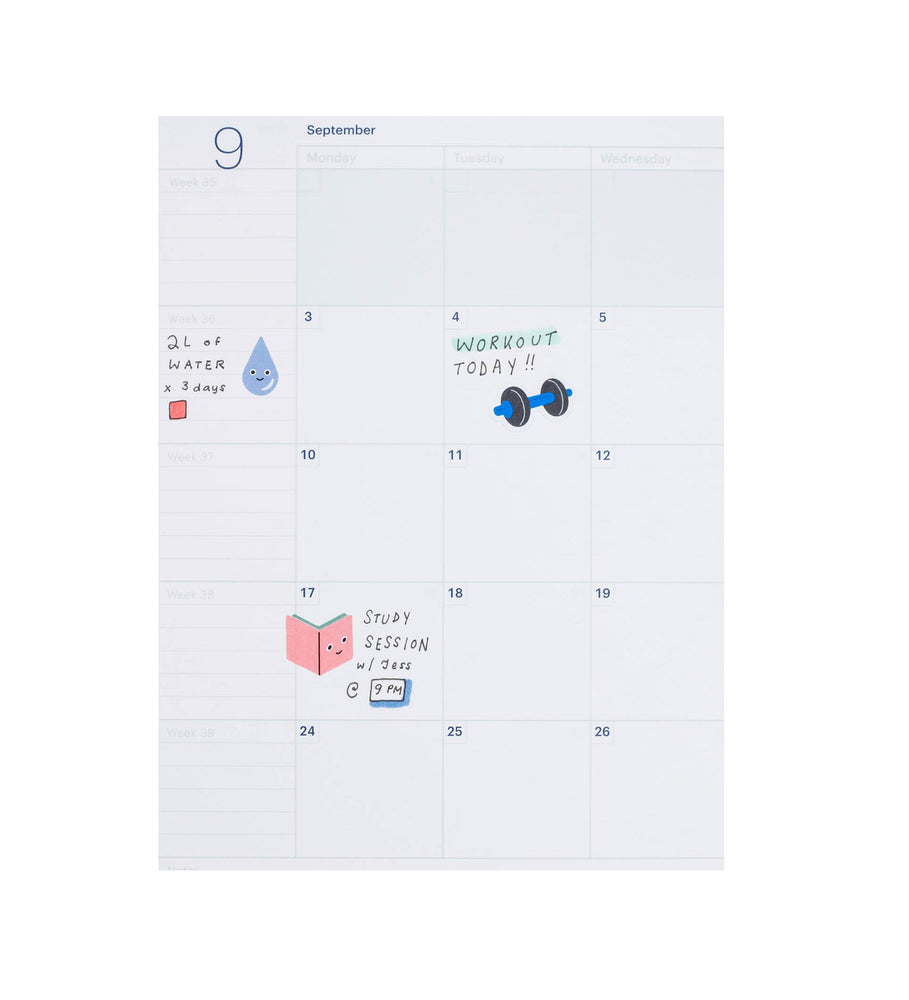 Let's Workout Planner Stickers - M.Lovewell