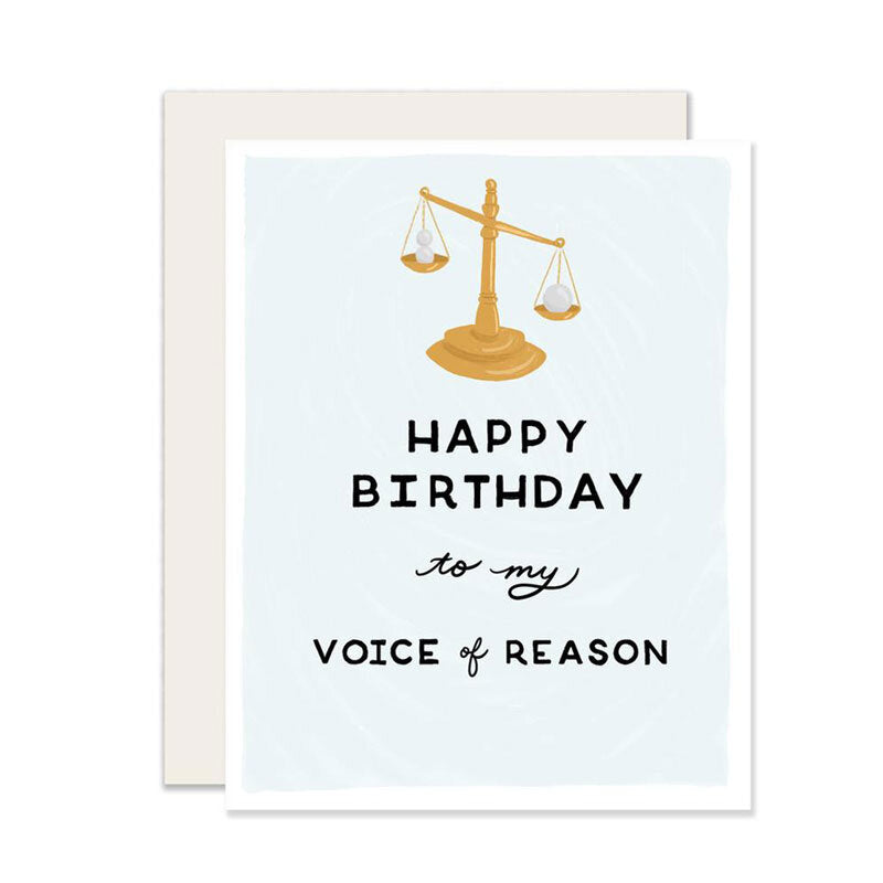 Voice of Reason Birthday Card - M.Lovewell