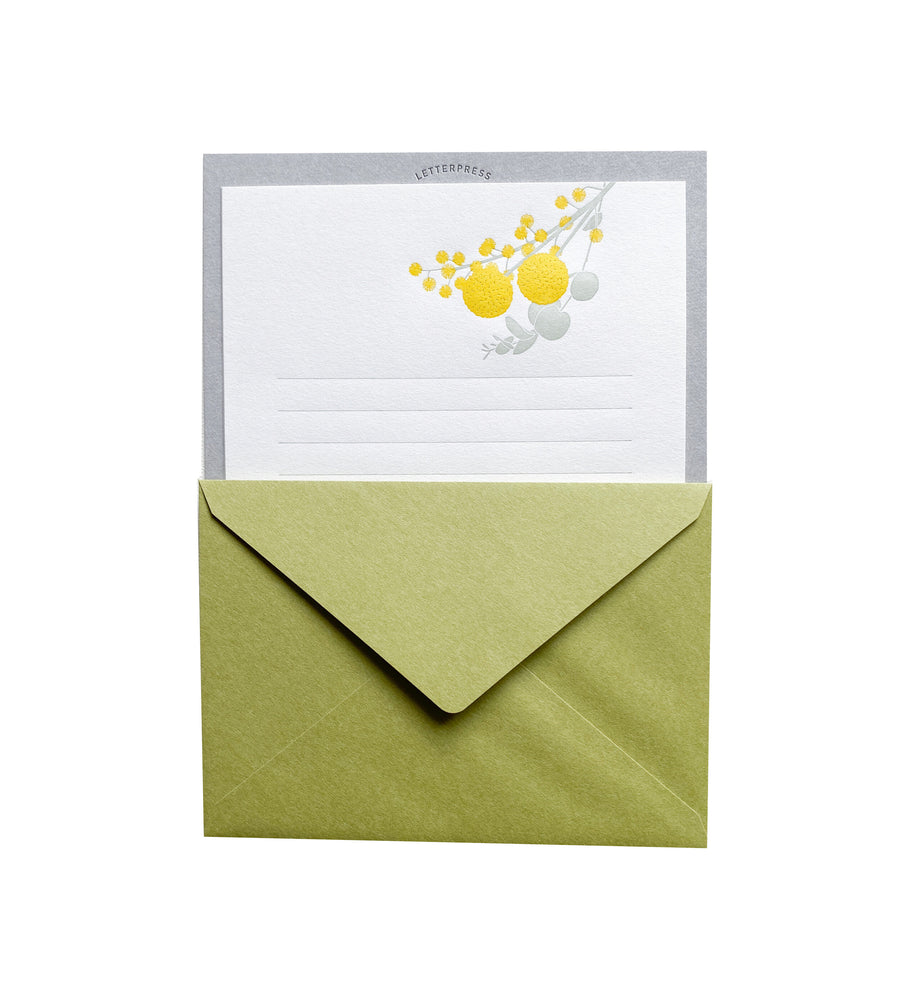 Yellow Bouquet Letterpress Letter Set