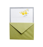 Yellow Bouquet Letterpress Letter Set - M.Lovewell