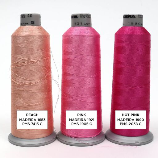 Pink Embroidery Thread Color Options