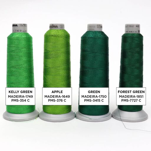 Green Embroidery Thread Colors