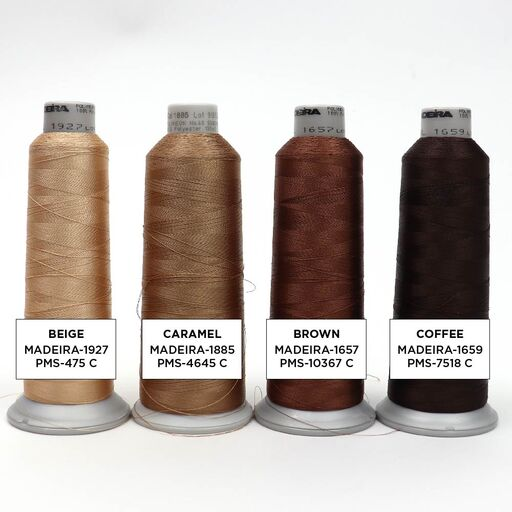 Purple Embroidery Thread Color Options