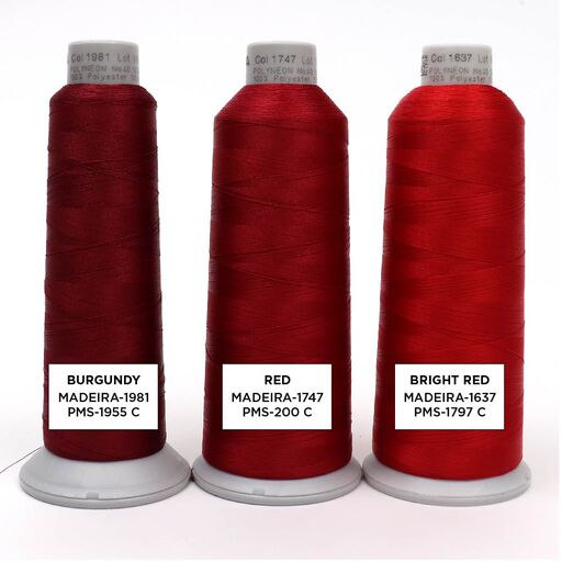 Red Embroidery Thread Color Options