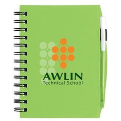 BIC Green Plastic Cover Notebook with Matching BIC Media Pen