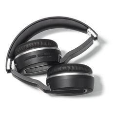 Brookstone Black Sonic Bluetooth Headphones Top