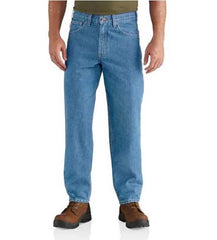 Carhartt Men's Stonewash Relaxed Fit Tapered Leg Jean
