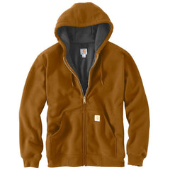 Carhartt Men's Brown Rutland Thermal-Lined Hooded Zip-Front Sweatshirt