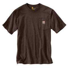 Carhartt Men's Dark Brown Workwear Pocket Short Sleeve T-Shirt