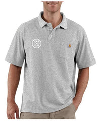 Carhartt Men's Heather Gray Contractor's Work Pocket Polo