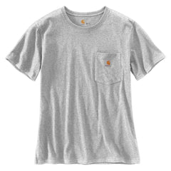 Carhartt Women's Heather Grey WK87 Workwear Pocket Short Sleeve T-Shirt