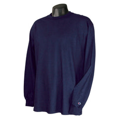 Champion Men's 5.2 oz Navy Long Sleeve Tagless T-Shirt