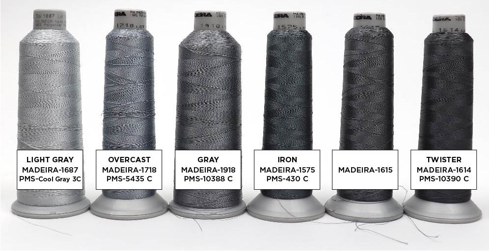 Gray Embroidery Thread Colors