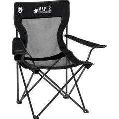 Coleman Mesh Black Quad Chair with Pocket (on back)