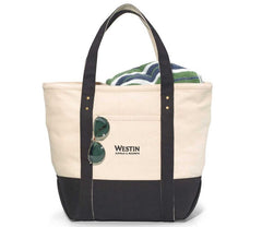 Custom Embroidered Logo Canvas Tote Bag