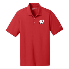 Custom Nike Dri-FIT Polo Shirt with Embroidered Wisconsin Badgers Logo