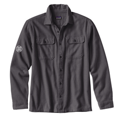 Patagonia Men's Forge Grey Long Sleeve Fjord Flannel Shirt
