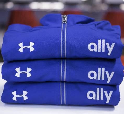 Corporate branded Under Armour hoodies, sweatshirts, and sweaters are available today at Merchology