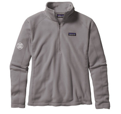Patagonia Women's Feather Grey Micro D 1/4-Zip