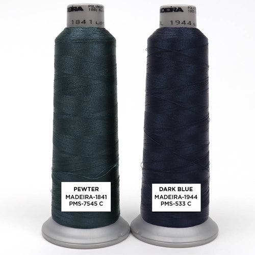 Dark Blue Embroidery Thread Color Options