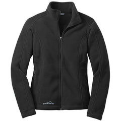 Eddie Bauer Women's Black Full-Zip Fleece Jacket