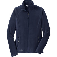 Eddie Bauer Women's Navy Full-Zip Microfleece Jacket